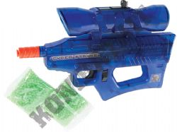 Cyber Stryke Electric Automatic Airsoft Machine Gun Clear Blue